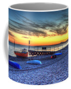 Boats On The Beach At Branscombe  Coffee Mug