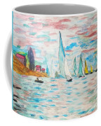 Boats On Water Monet  Coffee Mug