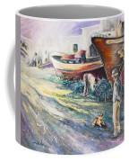 Boats Yard In Villajoyosa Spain Coffee Mug