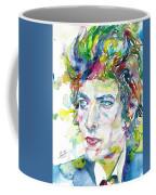 Bob Dylan - Watercolor Portrait.19 Coffee Mug