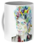 Bob Dylan - Watercolor Portrait.4 Coffee Mug