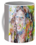 Bob Marley - Watercolor Portrait.17 Coffee Mug