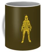 Boba Fett - Star Wars Art, Yellow Coffee Mug