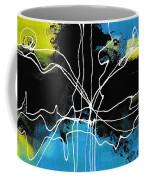 Bold White Lines Three Coffee Mug