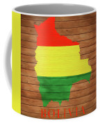 Bolivia Rustic Map On Wood Coffee Mug