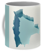 Bolivia Simple Intrusion Map 3d Render Coffee Mug