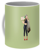 Bombshell Blond Pinup Woman In Dangerous Style Coffee Mug
