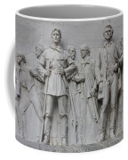 Bonham And Bowie On Alamo Monument Coffee Mug