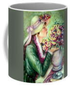 Bonnet Of Flowers Coffee Mug