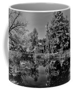 Bonneyville Grist Mill          Black And White        Autumn        Indiana Coffee Mug