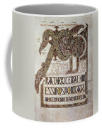 Book Of Lindisfarne Initial Coffee Mug