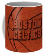 Boston Celtics Leather Art Coffee Mug