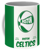 Boston Celtics Vintage Basketball Art Coffee Mug