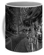 Boston Common Carousel Boston Ma Black And White Coffee Mug