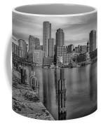 Boston Habor Sunrise Bw Coffee Mug