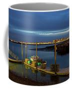 Boston Ma Belle Isle Boat Pier And Skyline Logan Airport Coffee Mug