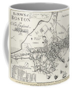 Boston Map, 1722 Coffee Mug
