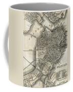 Boston Map Of 1842 Coffee Mug