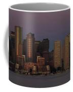 Boston Moonset And Sunrise Coffee Mug