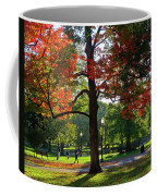 Boston Public Garden Autumn Tree Morning Light Walk In The Park Coffee Mug