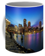 Boston Skyline At Dusk Coffee Mug