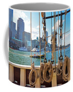 Boston Skyline From The Boston Harbor Coffee Mug