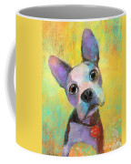 Boston Terrier Puppy Dog Painting Print Coffee Mug