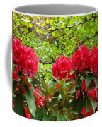 Botanical Garden Art Prints Red Rhodies Trees Baslee Troutman Coffee Mug