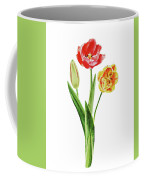 Botanical Tulip Bouquet Watercolor Coffee Mug