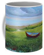Bote En La Grama  Coffee Mug