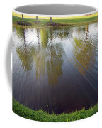 Grass On Both Sides With Water Between Coffee Mug