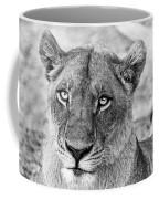 Botswana  Lioness In Black And White Coffee Mug