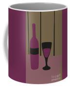 Bottle And Glass Of Wine Coffee Mug