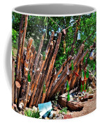Bottle Fence In Golden New Mexico Coffee Mug