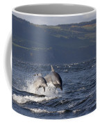 Bottlenose Dolphins Leaping - Scotland  #37 Coffee Mug