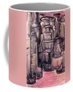 Bottles In Red Coffee Mug