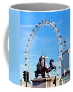 Boudica Riding The Millennium Wheel Coffee Mug
