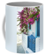 Bougainvillea In Santorini Island Coffee Mug