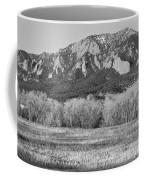 Boulder Colorado Flatiron View From Jay Rd Bw Coffee Mug