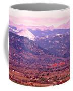Boulder Colorado Sunrise Panorama Coffee Mug