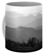Boulder County Foothills To The Rockies Bw Coffee Mug