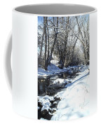Boulder Creek After A Snowstorm Coffee Mug