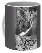 Boulder Falls Black And White   Coffee Mug
