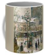 Boulevard De Rocheouart In Snow Coffee Mug