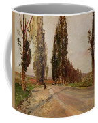 Boulevard Of Poplars Near Plankenberg Coffee Mug