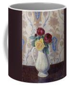 Bouquet De Roses Dans Un Vase 1885 Coffee Mug