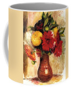 Bouquet Of Flowers In An Earthenware Pitcher Coffee Mug