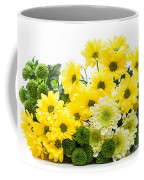 Bouquet Of Fresh Spring Flowers Isolated On White Coffee Mug
