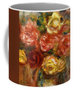 Bouquet Of Roses In A Vase 1900 Coffee Mug