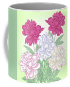 Bouquet With White And Pink Peonies.spring Coffee Mug